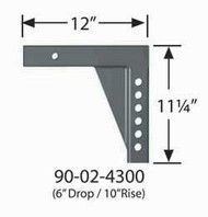 """Equal-i-zer Weight Distribution Hitch Shank - 6""""drop/10""""rise"""