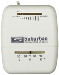 Suburban Thermostat - Heat Only - White