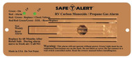 Safe-T-Alert Combination CO/LP Gas Alarm - Brown