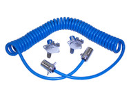 Blue Ox 4-Wire Electrical Coiled Cable Extension 1ft to 7ft