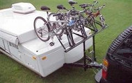 Pro Rac Bicycle Carrier- 4 Bike for Pop Up Tent Trailer