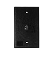 King Controls Jack Power Switch Plate - Wall Mounted - Black