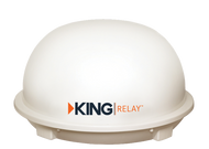 Kings Control King Relay Portable Domed Antenna - White