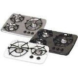 Atwood Wedgewood Vision Cooktop - Drop-In, 3 Burner, White