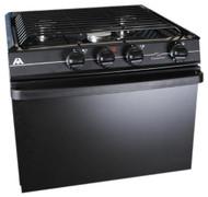"""Atwood Wedgewood 17"""", 3-Burner, Black Top, Black Door Range Oven RV 1735 BB UPS"""