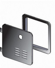 Girard Water Heater Access Door - Black - Side Hinged - 2GWHDB