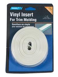 "Camco Vinyl Trim Molding Insert 3/4"" x 25' Colonial White"