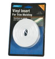 "Camco Vinyl Trim Molding Insert 3/4"" x 25' White"