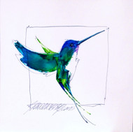 """Colibri"" by Sarah Rogers 10x10 original"