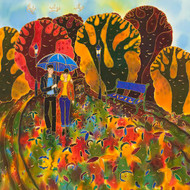 """Autumn Walk"" by Yelena Sidorova 24x24"
