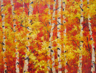 "Original oil painting by fine artist Tim Howe, titled, ""Autumn's Crescendo"", 48x60.  Large painting."
