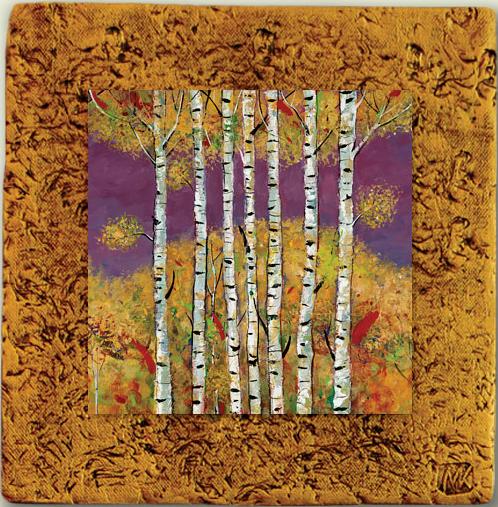 "Aspen Tile 02 by Kenarov Art, 10""x10"" ready to hang."