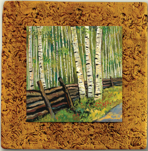 "Aspen Tile 07 by Kenarov Art, 10""x10"" ready to hang."