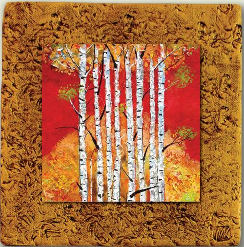 "Aspen Tile 08 by Kenarov Art, 10""x10"" ready to hang."