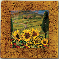 "Countryside Tile 05 by Kenarov Art, 10""x10"" ready to hang."
