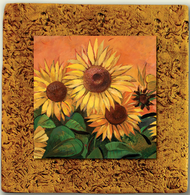 "Countryside Tile 06 by Kenarov Art, 10""x10"" ready to hang."