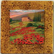 "Italy Tile 02 by Kenarov Art, 10""x10"" ready to hang."