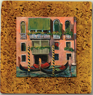 "Italy Tile 03 by Kenarov Art, 10""x10"" ready to hang."