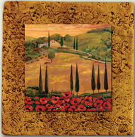 "Italy Tile 06 by Kenarov Art, 10""x10"" ready to hang."