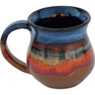 Small Mug in Azulscape is completely functional : dishwasher, microwave and food safe.  Always Azul mugs are available in several glaze colors and decal options.