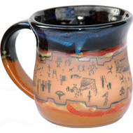 Large Ruins Mug in Azulscape. Completely functional : dishwasher, microwave and food safe. Please call (303) 444-3838 or (970) 586-2151 to purchase.