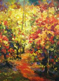 "Original oil painting by fine artist Tim Howe, titled, ""Joie de Vivre"", 40x30.  Gallery wrap."