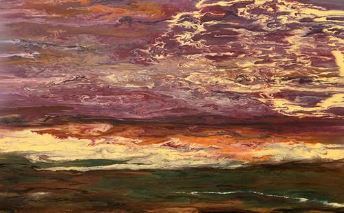 """Sky in Motion III"" by Kimberly Conrad, 28""x45""x1.5"""