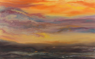"""Sunset Reflections I"" by Kimberly Conrad, 28""x45""x1.5"""