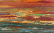 """Reflecting a Blazing Sky"" by Kimberly Conrad, 23""x37""x1.5"""