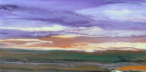 """The Sun Rose Softly"" by Kimberly Conrad, 15""x30""x1.5"""