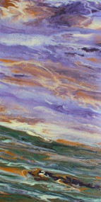 """Sunrise Reflections on the Plains"" by Kimberly Conrad, 30""x15""x1.5"""