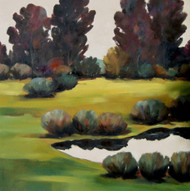 "Original oil painting by fine artist Tim Howe, titled, ""Shadows and Light II"", 36x36.  Gallery wrap."