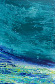 """Tropical Wave V"" by Kimberly Conrad, 36""x24""x1.5"""