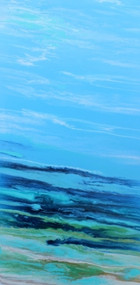 """Tropical Wave III"" by Kimberly Conrad, 36""x16""x1.5"""