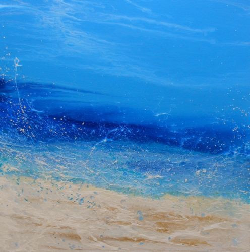 """Afternoon Splash"" by Kimberly Conrad, 24""x24""x1.5"""