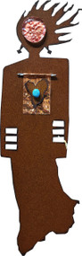 """Artistic"" Spirit Woman by Redford Metal, rusted steel and recycled materials wall decor. 13"" tall."