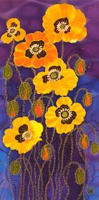 """Yellow Poppies"" by Yelena Sidorova 12x24"