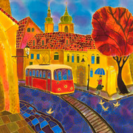 """Old Tram, Prague"" by Yelena Sidorova 24x24"