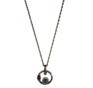 "Halley's Comet Necklace in Celebration by Patricia Locke Jewelry based in Mundelein, IL. Sterling silver chain with a Swarovski crystal set in sterling silver. 0.875"" pendant on 18"" chain."