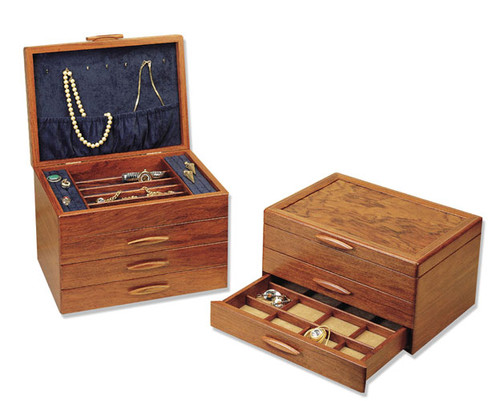 American made 1 2 and 3 drawer prairie style wood jewelry boxes by Michael  sc 1 st  Earthwood Galleries of Colorado & Prairie II Wooden Jewelry Box by Michael Fisher - Earthwood ... Aboutintivar.Com