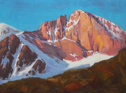 """Song of the Diamond, Longs Peak"" Maggie Renner-Hellmann 18x24"
