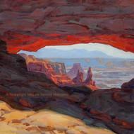 """Aglow, Mesa Arch Canyonlands"" Maggie Renner Hellmann 12x12"