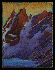"""Dragon's Tail Couloir"" by Lou Renner 16x20"