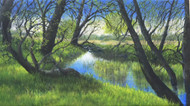"""Old Trees With Young Leaves"" Lyse Dzija 20x36"