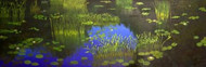 """Lily Pads: All Is Well"" Lyse Dzija 20x60"