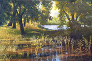 """Boyd Lake Backlit"" Lyse Dzija 24x36"
