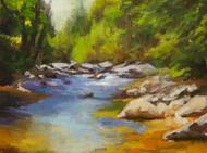 """Wild Basin River Light"" by Terri Sanchez 9x12"