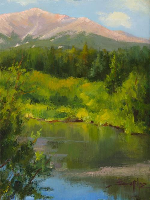 """""""Beauty Below Longs Peak"""" by Terri Sanchez 9x12"""
