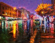 """Broadway at Night — Downtown Denver"" Stanislav Sidorov 24x30"