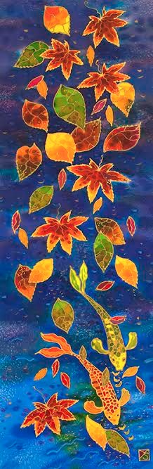 """Autumn Pond"" by Yelena Sidorova 10x30"